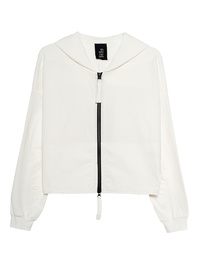 THOM KROM Hood Zipper Off White