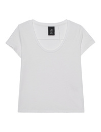 THOM KROM Crew Neck Cotton Linen Off-White