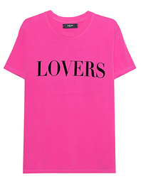 Amiri Lovers Tee Neon Pink