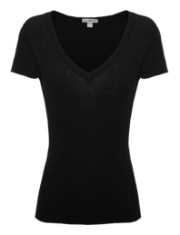JAMES PERSE Light V-Neck Cotton Black