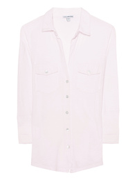 JAMES PERSE Sheer Slub Side Panel Oxford Pink