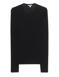 JAMES PERSE Sheer Slub Crew Black