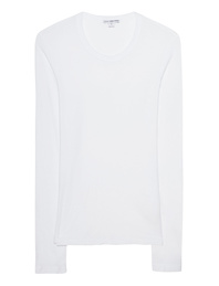 JAMES PERSE Sheer Slub Crew White