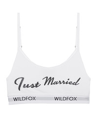 WILDFOX Just Married Bra Wedding White