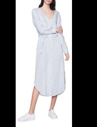 WOOLRICH Linen Long Dress Faded Blue