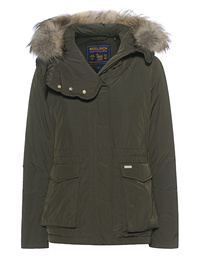 WOOLRICH Short Military Parka Oliv