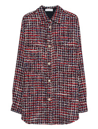 FAITH CONNEXION Tweed Jewel Oversize Red