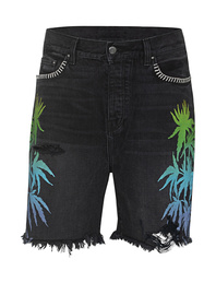 Amiri Palms Shorts Black