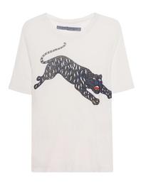 RAQUEL ALLEGRA Jersey Boxy Tiger Dirtywhite