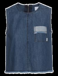 SJYP Cropped Pocket Denim Blue