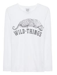 ZOE KARSSEN Loose Fit Wild Things White