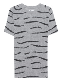 ZOE KARSSEN Boyfriend Tee Zebra Heather Grey
