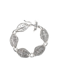 ZARAH LEA LAMOTTE Luxe Embossed Crosses Silver