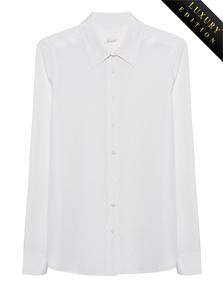JADICTED Heavy Silk Basic Blouse Off-White