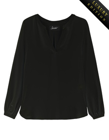 JADICTED Heavy Silk Tunic Black