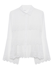 JADICTED Blouse Lace Off-White