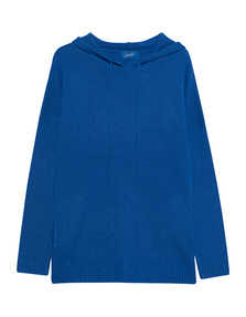 JADICTED Hood Knit Cashmere Blue