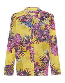 JADICTED Flower Blouse Yellow Multicolor