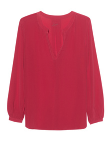 JADICTED V-Neck Silk Red