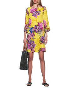 JADICTED Silk Dress Yellow