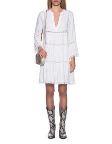 JADICTED V-Neck Dress White