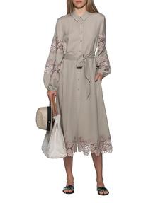 JADICTED Linen Dress Camel Beige