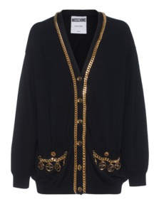 MOSCHINO Over Wool Gold Black