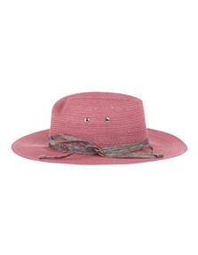 Maison Michel Virginie Rainbow Canapa Straw Pink