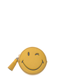 ANYA HINDMARCH Coin Purse Wink Mustard