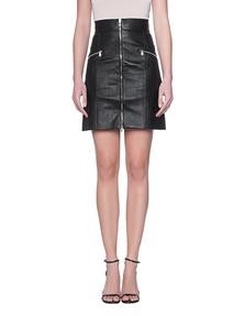 LAPIS Leather Zipper Black