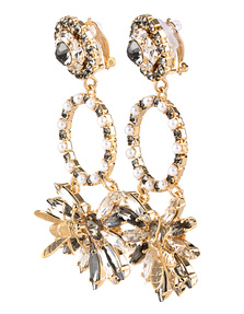 ERDEM Crystal Flower Gold