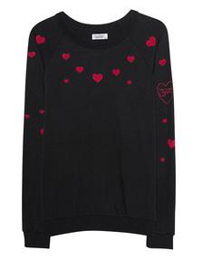 LAUREN MOSHI Noleta Red Brat Hearts Black