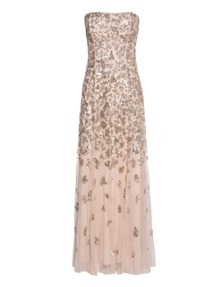 YOUNG COUTURE BY BARBARA SCHWARZER Corsage Sequin Nude