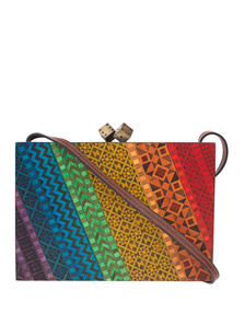 SARAH'S BAG Rainbow Marquetry Multicolor