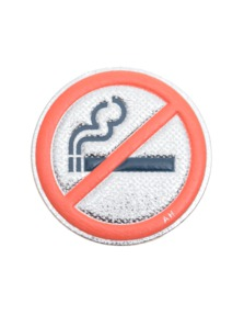 ANYA HINDMARCH No Smoking Silver