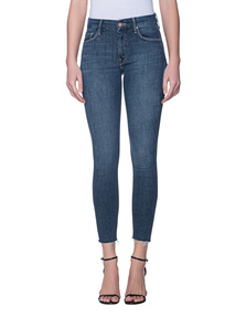 MOTHER Fray Ankle Skinny Blue