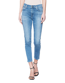CITIZENS OF HUMANITY Skinny Rocket Cropped Blue