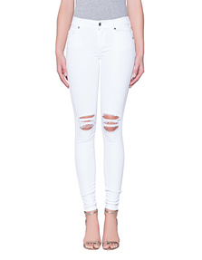 Dr. Denim Jeansmakers Dixy Ripped Knees White