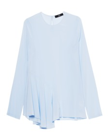 STEFFEN SCHRAUT Silk Stretch Pleats Light Blue