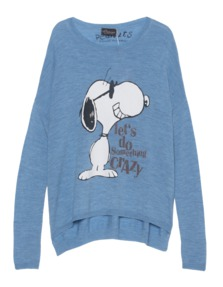 PRINCESS GOES HOLLYWOOD Crazy Snoopy Faded Blue