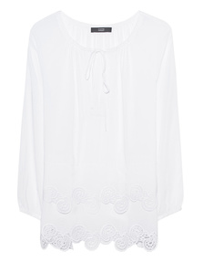 STEFFEN SCHRAUT Embroidery Paisley White