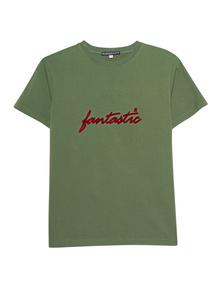 AlexaChung Fantastic Red Flocked Green