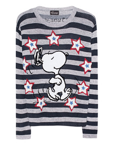 PRINCESS GOES HOLLYWOOD Snoopy Stripes Grey