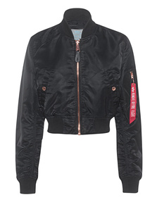 ALPHA INDUSTRIES INC Cropped Bomber Black