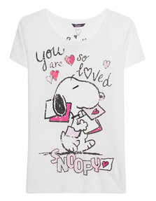 PRINCESS GOES HOLLYWOOD Snoopy So Loved White
