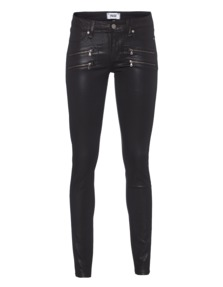 PAIGE Edgemont Ultra Skinny Black Silk Coating