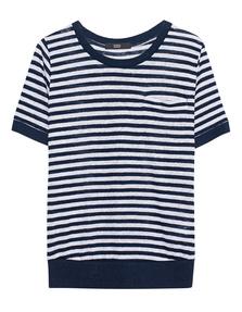 STEFFEN SCHRAUT Box Pleat Stripes Blue White