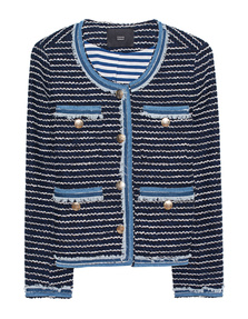 STEFFEN SCHRAUT Fringes Striped Navy