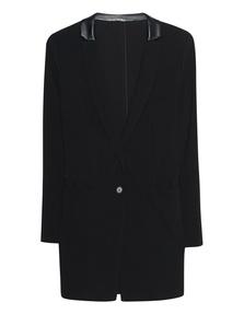 STEFFEN SCHRAUT Long Leather Collar Black