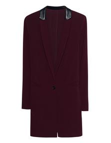STEFFEN SCHRAUT Long Leather Collar Wine Red